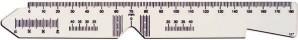 PD Messstab Transparent (Schwarze Markierungen) 205 mm