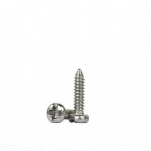 Padschrauben kreuzschlitz 1,0 mm Silber 100 Stück