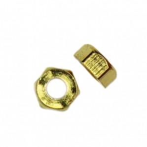 Sechskantmuttern 1,4 mm Gold 100 Stück