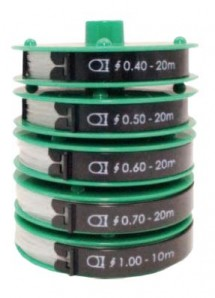 Sortiment Nylonfäden Farblos - 90 m 5 Rollen