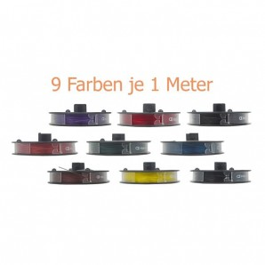Set Nylorfaden farbig 0,5 mm 9 x 1 m