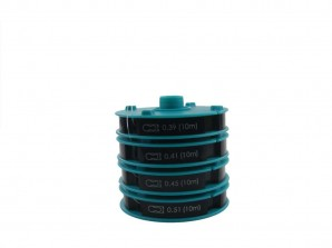 SPARSET Sortiment Nylonfäden Doppelprofil 4 Spulen