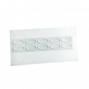 Seitenstege Silikon zum Aufkleben Farblos 17 mm 5 Paar
