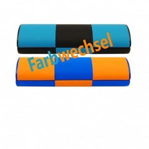 """Zauberetui """"Michi"""" mittel lang - Orange / Blau / Schwarz"""
