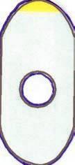 Schutzfolien oval, klein 500 Stück