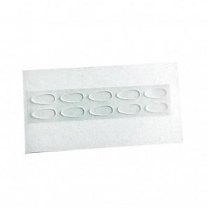 Seitenstege Silikon zum Aufkleben Farblos 13 mm 5 Paar