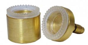 Adaptersatz für kleine Brillengläser 1 Paar für Standard Rillgerät 415.02
