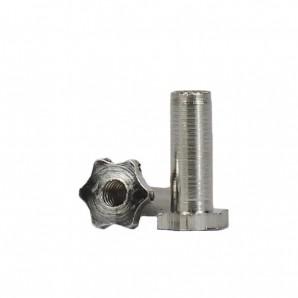 Hülsenmuttern 1,4 x 2,5 x 5,0 mm Silber 25 Stück