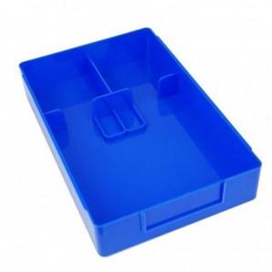 Arbeitskasten Standard mit Einteilung Blau