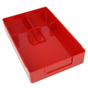 Arbeitskasten Standard mit Einteilung Rot