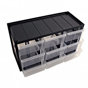 Sortimentsschrank Standard klein für die Wand - 9 Fächer