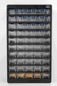 Sortimentsschrank Standard groß für die Wand - 55 Fächer