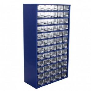 Sortimentsschrank groß für die Wand - 60 Fächer