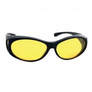 Überbrille gelbe Gläser - Schmale Version
