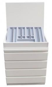 Container für Refraktionseinheit Weiß