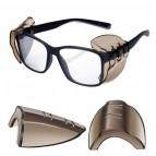 NEU Seitenschutz für Brillen - Rauchfarbend 1 Paar