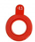 """Refraktionsglas Roter Rand -sph-""""Made in Germany""""*"""