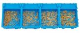 Sortiment verlängerte Federscharnierschrauben Gold inkl. Boxen SPARSET