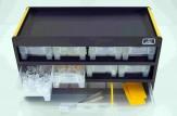 Sortimentsschrank Wand klein mit Seitenstegen Eco (160 Paar + 1 Padlösepinzette)