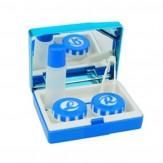 Sparset Kontaktlinsenbox mit Spiegel Dunkelblau 5 Stück