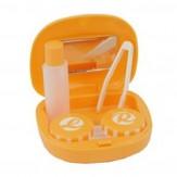 Sparset Kontaktlinsenbox mit Spiegel Orange 3 Stück