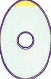 Schutzfolien oval 500 Stück