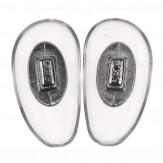 Seitenstege PVC soft Silber 17,5 mm 10 Paar