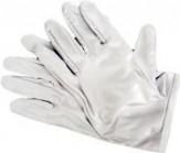 "Microfaser Handschuhe weiß ""DeLuxe"" Gr. M/L"